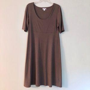 Brown Garnet Hill Scoop neck Dress